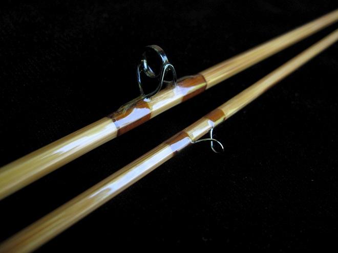 Кольца на бамбуковой удочке