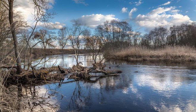 Малая река весной
